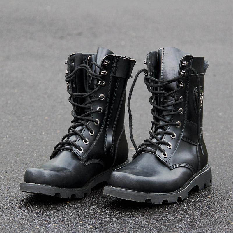 軍靴男特種兵作戰靴高幫鋼頭真皮男靴子冬季軍迷防水戰術靴沙漠靴