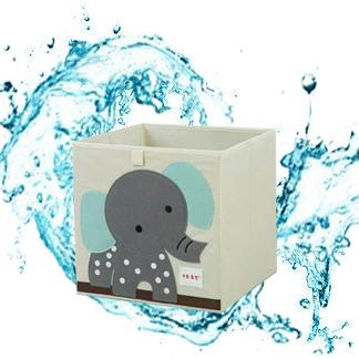可折叠儿童卡通衣物格子收纳盒玩具布艺整理箱正方形储物桶框水洗