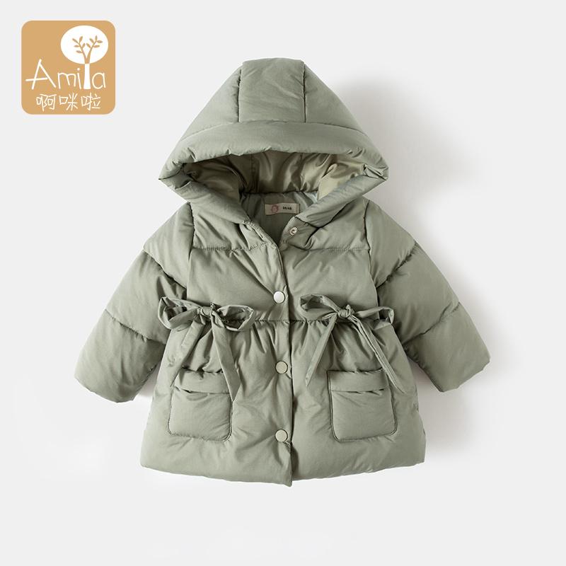 宝宝冬装2019新款0-1岁女童棉服2婴幼儿冬季儿童中长款加厚外套3