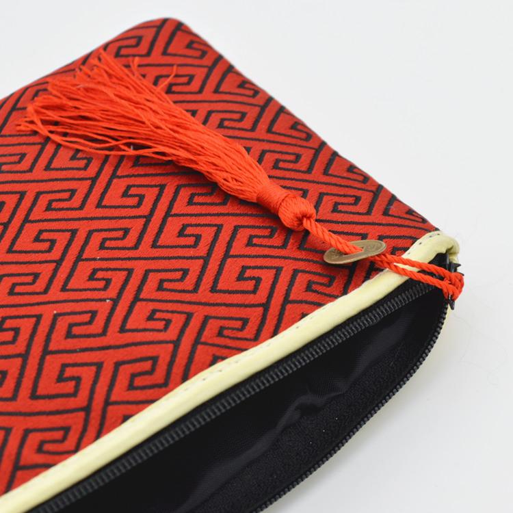 中国特色 七色拼花 织锦绸缎零钱袋 小钱包零钱包 送外老外小礼品
