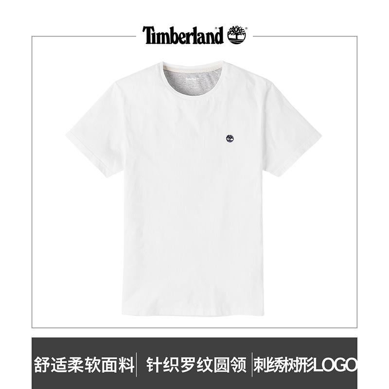 Timberland添柏岚男装素色圆领户外短袖T恤衫|A1MH6