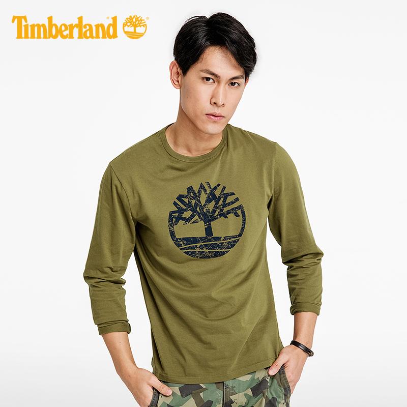 【經典款】Timberland添柏嵐男裝印花潮流圓領戶外長袖T恤|A1L19