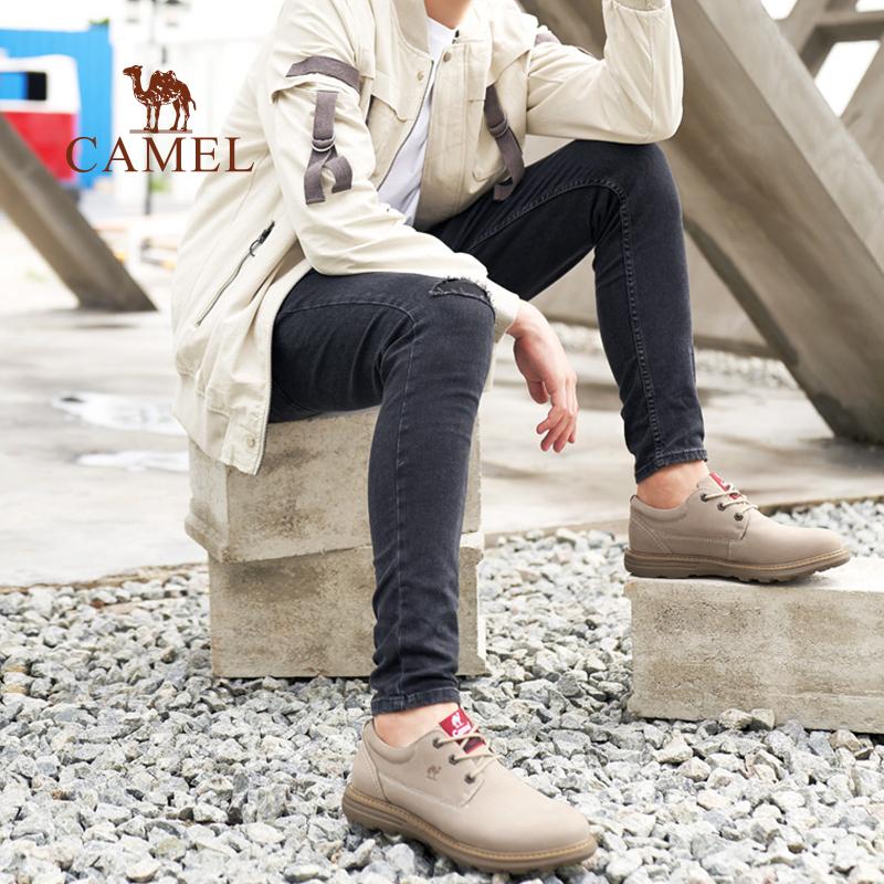 骆驼男鞋新款潮流工装鞋男真皮时尚马丁鞋户外休闲鞋子男