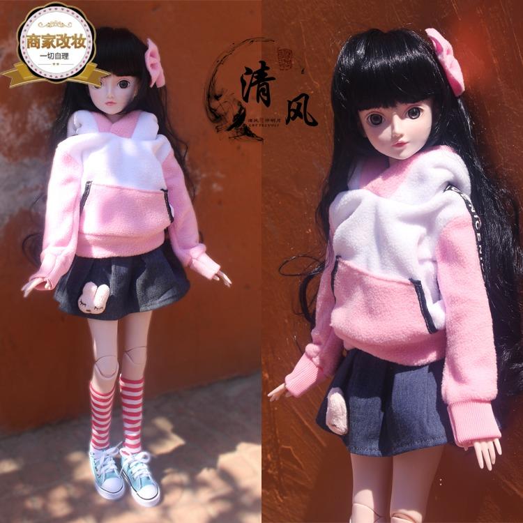新品夜萝莉BJD叶罗丽改妆娃定制款60cm女孩玩具sd全套公主礼品