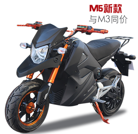 小猴子m3m5电动摩托车小怪兽电瓶车96V成人女高速电摩电动跑车72V