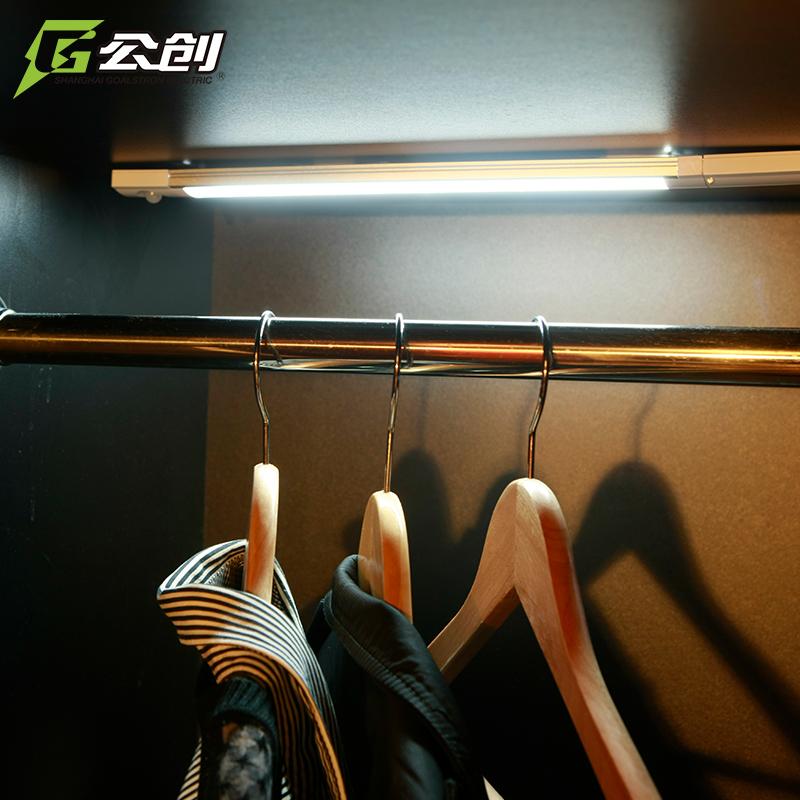 人体感应灯橱柜灯书柜底灯充电无线衣柜灯厨房鞋柜小夜灯壁灯 LED