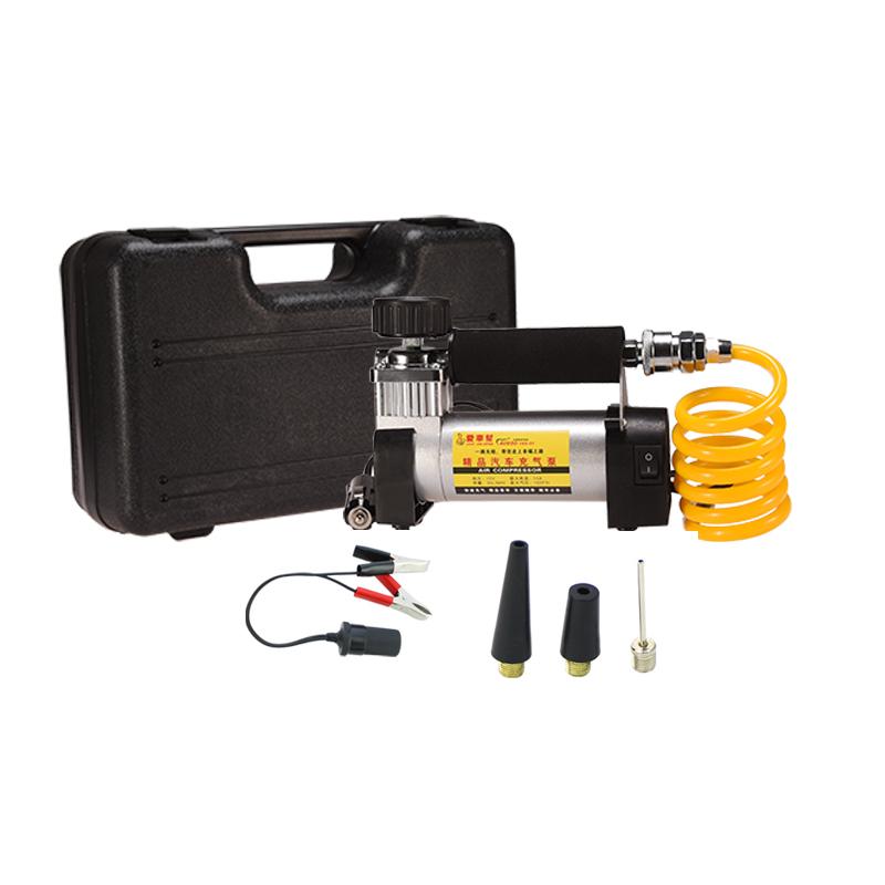 爱车帮车载充气泵单缸电动12V点烟器车载轮胎打气泵金属汽车便携