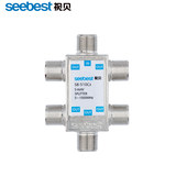 Seebest cable TV splitter one point five splitter closed-circuit television sub-signal one for five splitter 1 point 5
