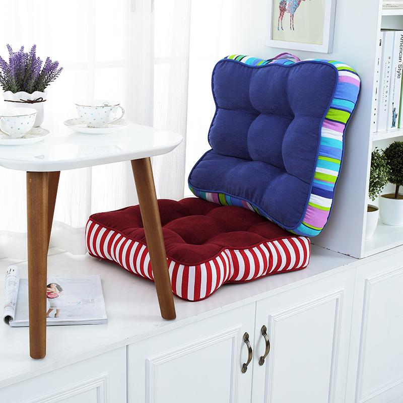 四季加厚办公室坐垫学生凳椅子坐垫增高垫榻榻米座垫布艺电脑椅垫