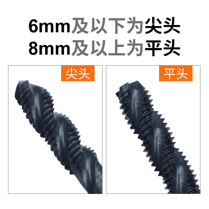 日本富士螺旋丝锥进口机用螺旋槽丝攻锋钢丝锥M3 4 5 6mm英制美制