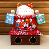 Japan Lucky Cat Decoration Opening Gift Shop Opening Gifts Checkout Customized QR Code Bluetooth Speaker