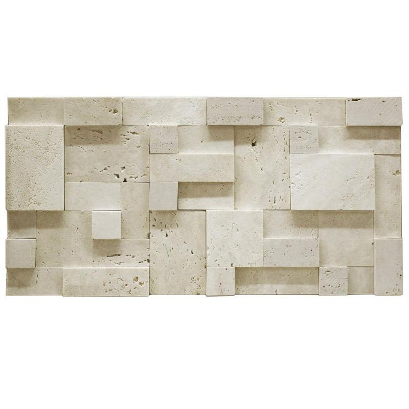 欧式洞石马赛克文化石背景墙天然石材拼花大理石电视玄关客厅瓷砖