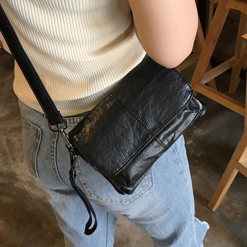单肩包女 新款包盖小包韩版休闲软皮拼接小方包 2020 女韩版 斜挎包