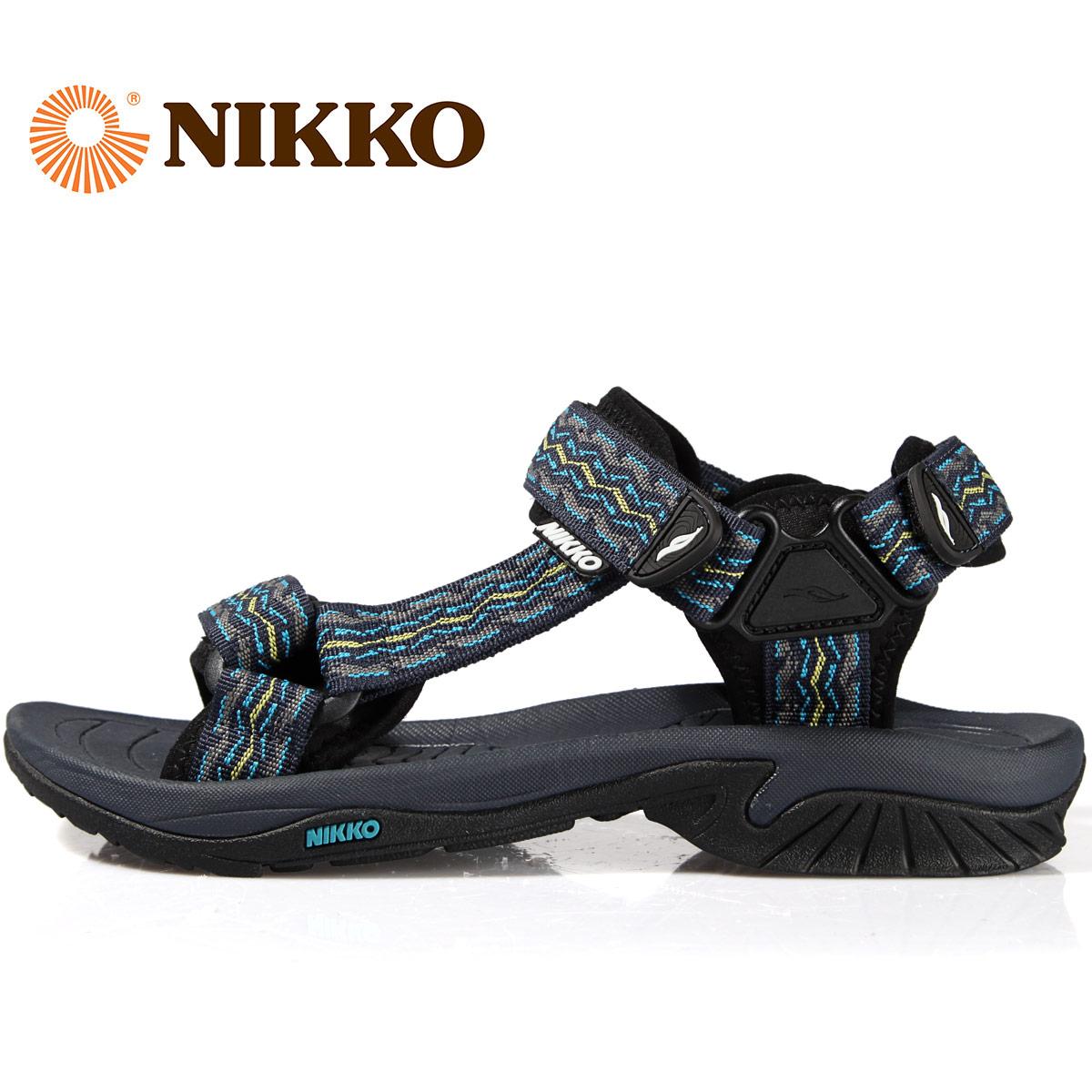 NIKKO日高戶外涼鞋沙灘鞋男防滑露趾沙灘涼拖旅遊拖鞋海邊涼鞋