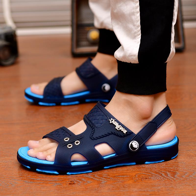 拖鞋男士凉鞋一字拖男新款韩版潮流时尚浴室内外穿两用凉拖鞋防滑 No.3