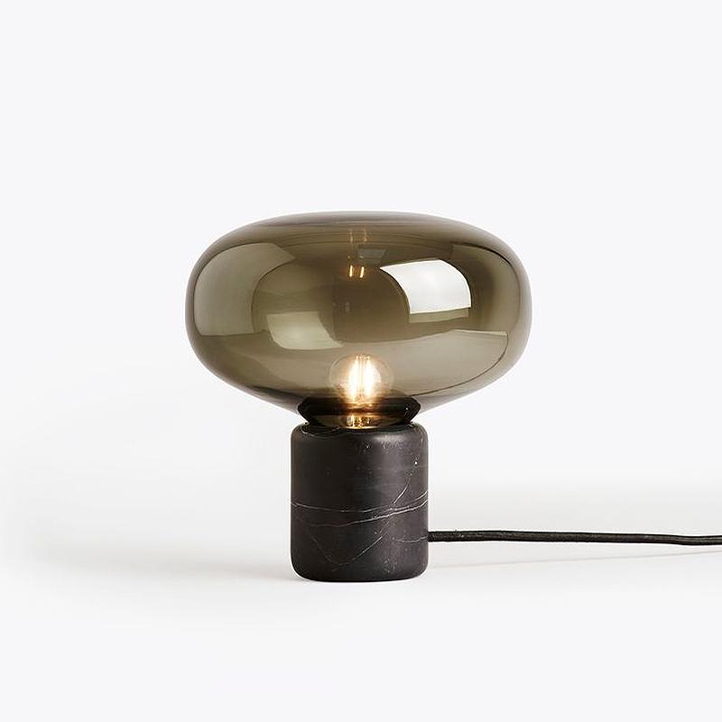 后现代创意大理石玻璃书房台灯简约床头卧室设计师台灯