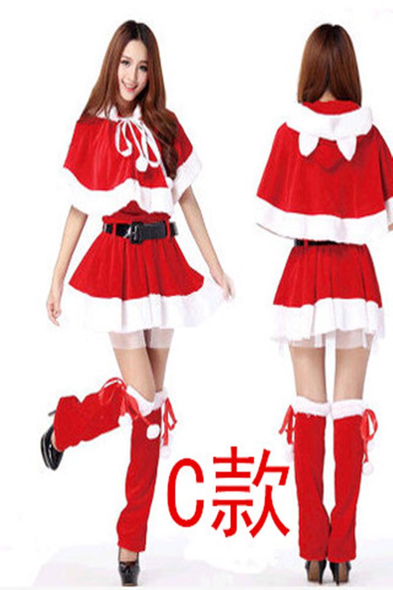圣诞服装 圣诞节服装 圣诞老人衣服服装 圣诞衣服成人女装 包邮