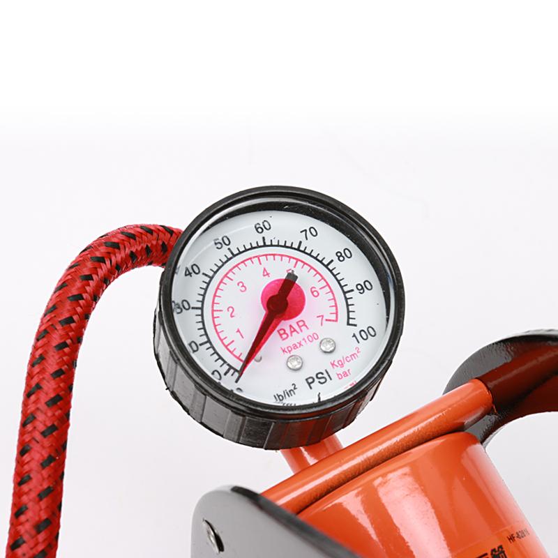 华丰巨箭表盘脚踏气筒自行车充气泵篮球打气筒摩托车充气五金工具