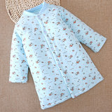 Children robe autumn and winter baby boy baby boys and girls cotton pajamas thick quilted robe children