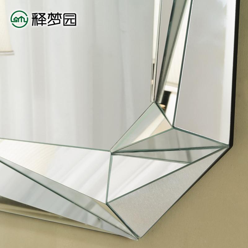 释梦园 立体挂镜装饰镜玄关镜浴室镜时尚镜子化妆镜欧式 M0526