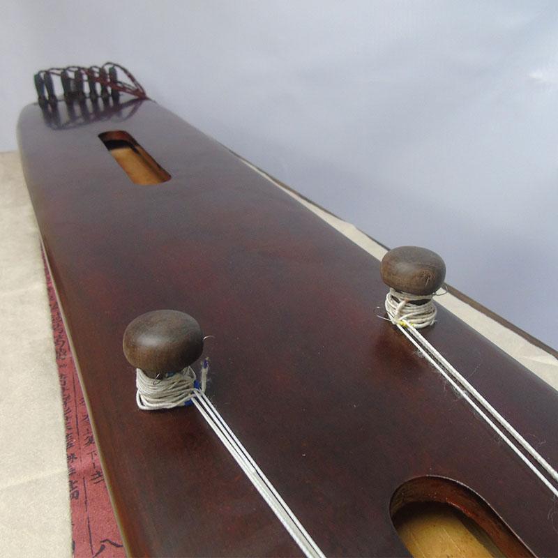 老桐木古琴初学者练习伏羲仲尼式混沌式纯手工生漆专业演奏级古琴