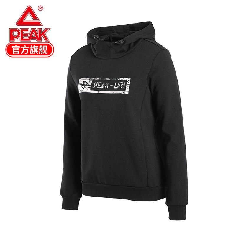 匹克卫衣女2020春季新款中国风休闲跑步运动服连帽上衣套头衫女R