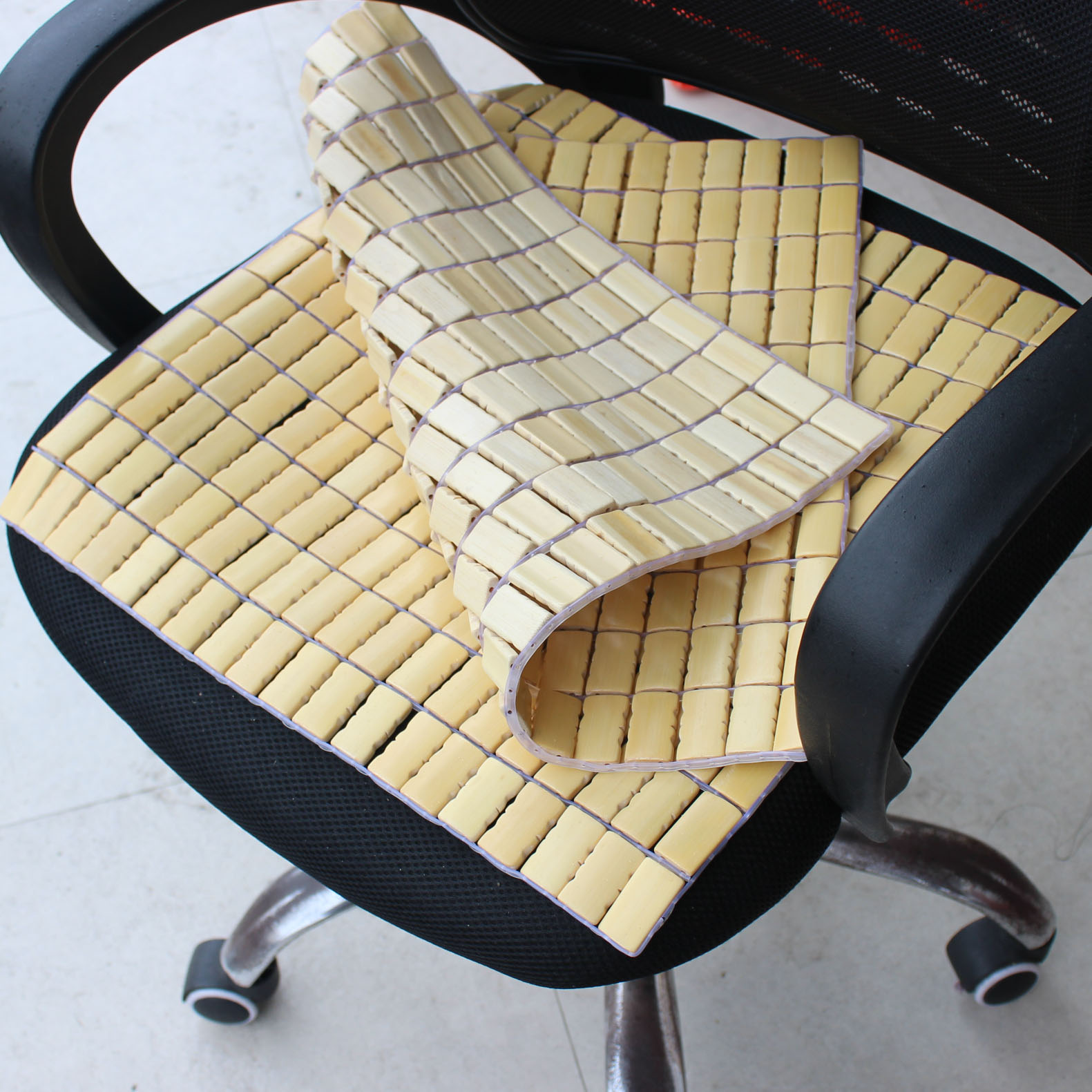 夏季麻将坐垫 办公室椅子座垫 餐椅座椅垫夏天凉席垫子电脑椅竹垫