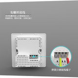 Mimosa open single control touch LED induction household single open panel wall type 86 light touch switch