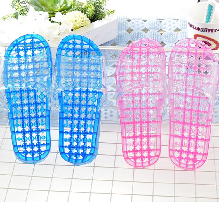 洗澡拖鞋漏水浴室防滑男女鏤空揉按衛生間涼拖鞋家居室內家用冬天
