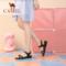 骆驼女鞋2019夏新款软底妈妈舒适百搭真皮孕妇防滑外穿凉鞋女平底