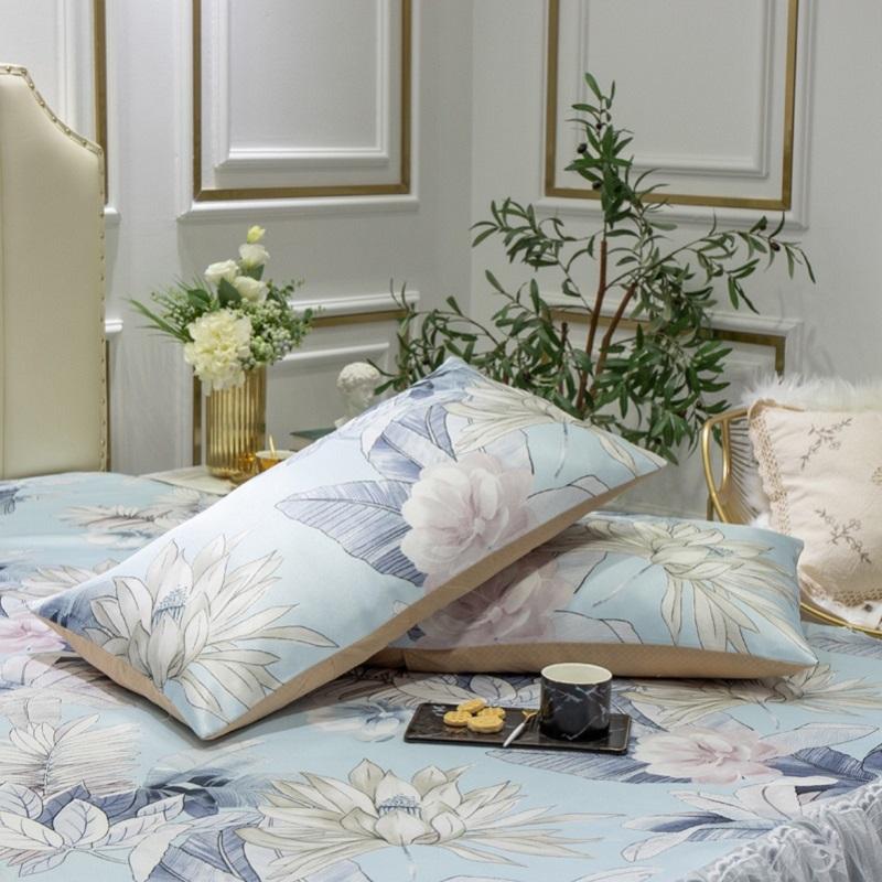 夏季冰丝凉席三件套床裙款蕾丝边1.8m床单人可水洗折叠空调软席子