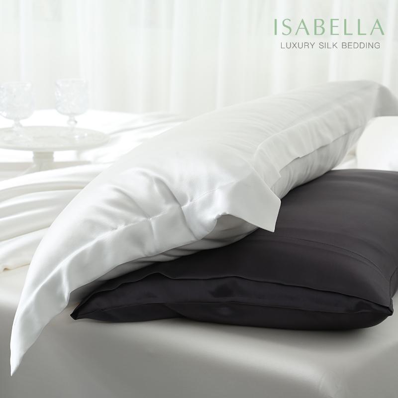 桑蚕丝枕套枕巾丝绸夏季夏凉枕头套 100 真丝枕套 ISABELLA 依纱贝拉