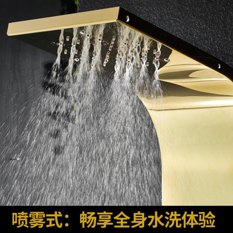 304不锈钢淋浴屏恒温花洒套装 沐浴屏淋雨喷头挂墙式淋浴花洒龙头