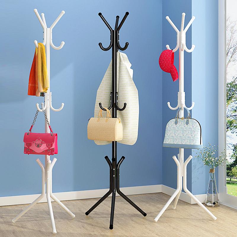 家用卧室多功能衣服架子落地挂衣架简易包架创意单杆式衣架衣帽架