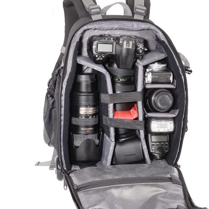 吉尼佛61117拉杆式 专业相机背包 双肩摄影包多功能拖杆箱容量大