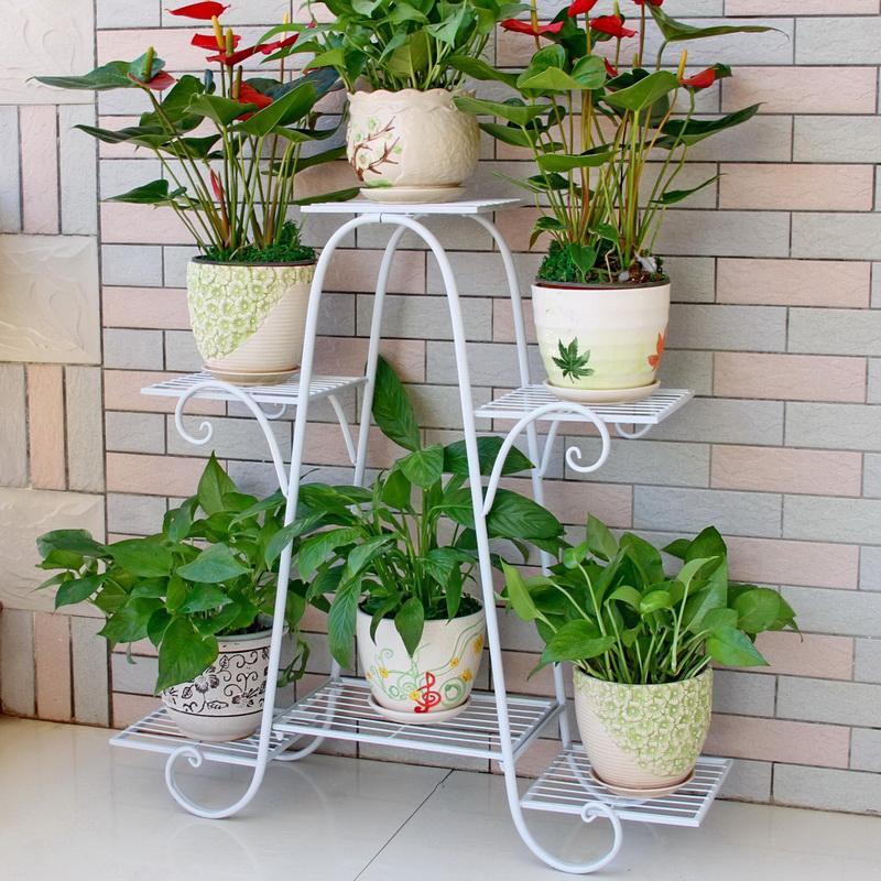 花架子多层室内特价家用阳台装饰架铁艺客厅省空间花盆落地式绿萝