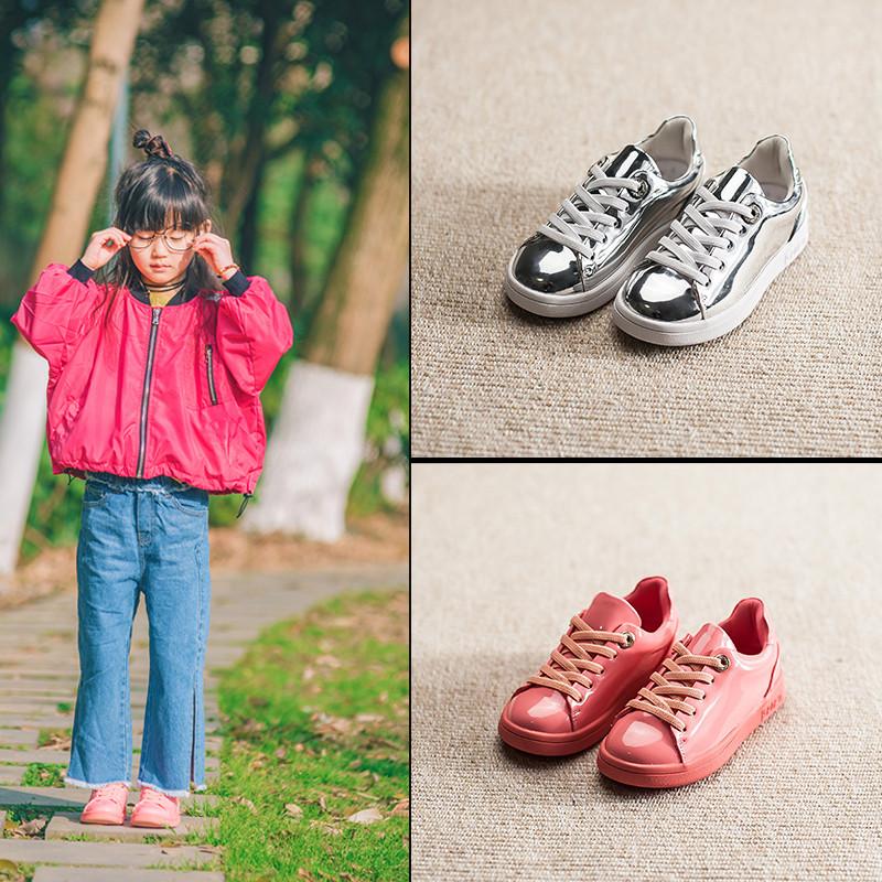 [淘寶網] 2018新款春季女童板鞋運動鞋漆皮童鞋兒童鞋子男童小白鞋百搭童鞋