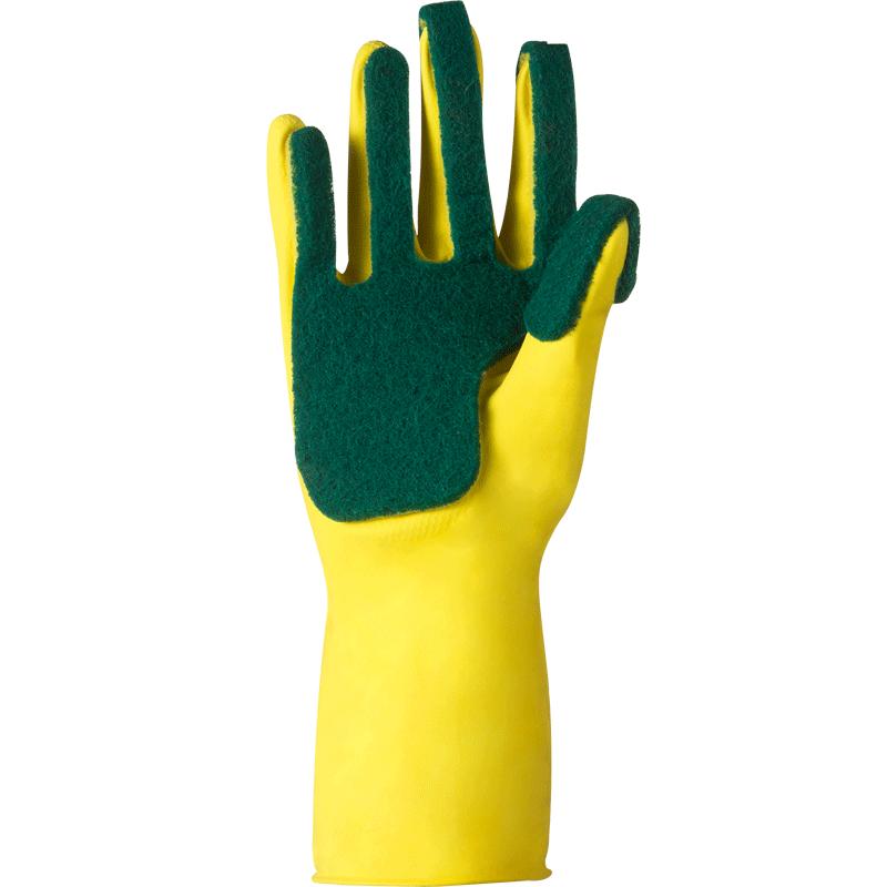 狄嘉伦家务手套厨房清洁百洁布洗碗橡胶防水护手耐磨乳胶薄手套女