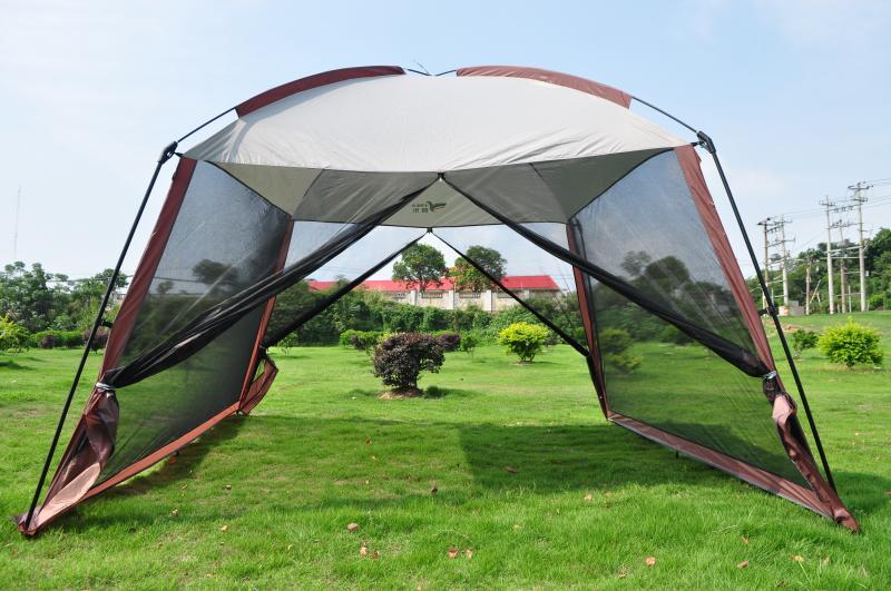 超大天幕露营帐篷 庭院遮阳棚 防蚊防雨防紫外线 包邮户外凉棚