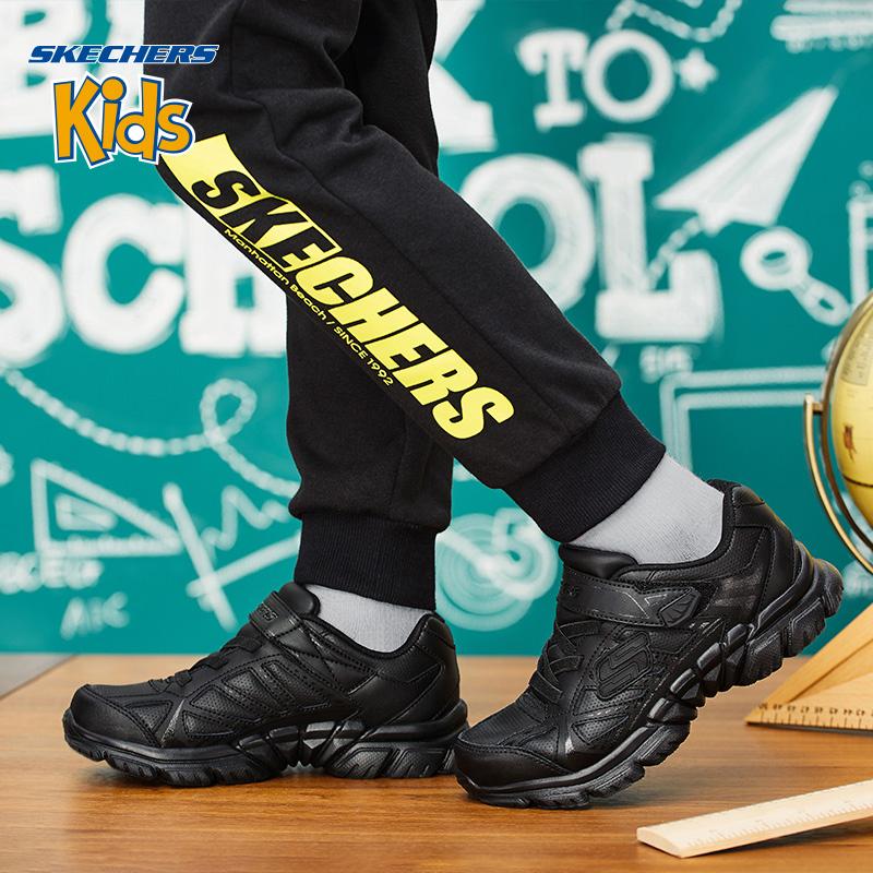 Skechers斯凯奇秋季男女童魔术贴校园小白鞋 软底运动鞋 998095L