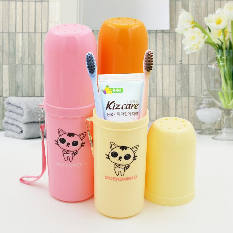 卡通洗漱杯套裝學生刷牙塑料漱口杯子帶蓋兒童便攜旅行牙缸涮牙杯