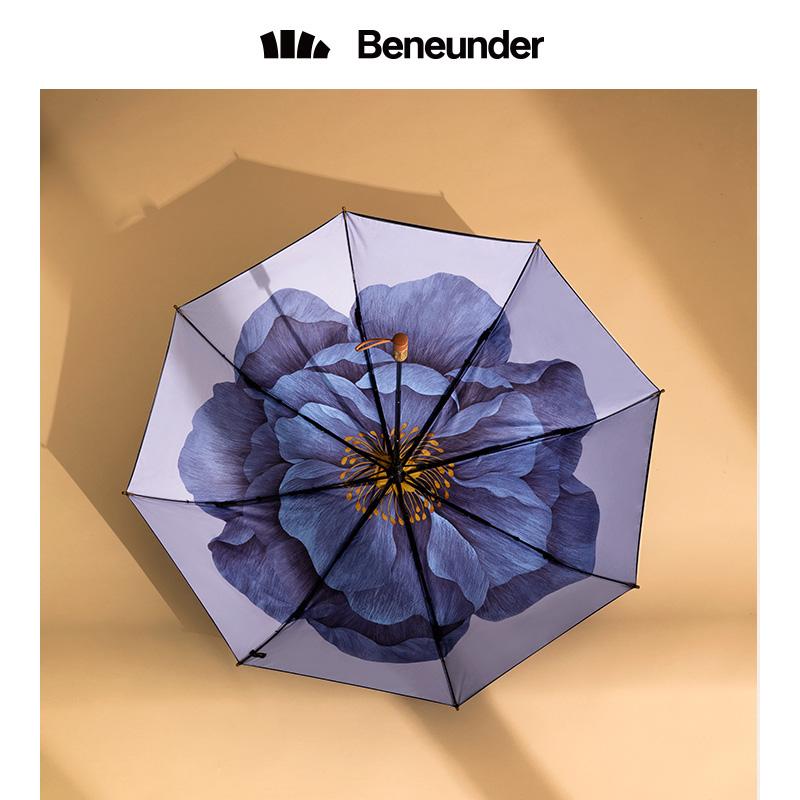 蕉下莲町太阳伞遮阳小黑伞防晒防紫外线雨伞女晴雨两用双层黑胶伞【图4】