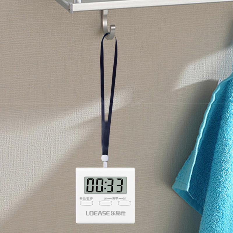 电子计时器厨房定时器大屏幕学生提醒器可爱倒计时器迷你闹钟秒表