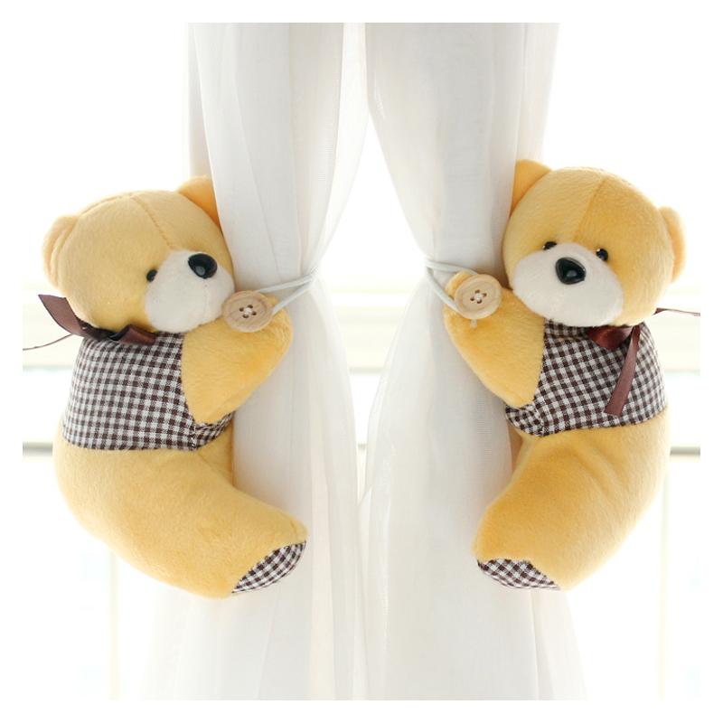 创意窗帘扣可爱窗帘绑带卡通扎窗帘小熊窗帘绑花欧式窗帘带糖果色
