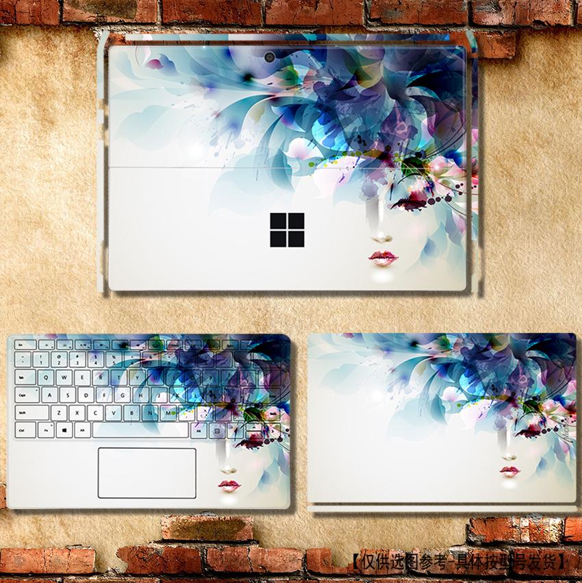 微软surface 3外壳膜Pro4贴纸Pro1 Pro5背贴RT2机身贴膜RT1保护膜BOOK1 BOOK2增强版Laptop2 1796配件PRO6