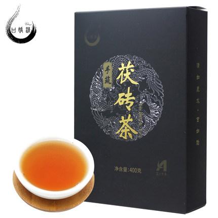 甘娇清 黑茶湖南安化手筑金花茯砖茶400g