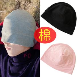睡觉帽子女睡帽男月子帽产后纯棉化疗帽薄防脱发光头冬季薄款秋冬