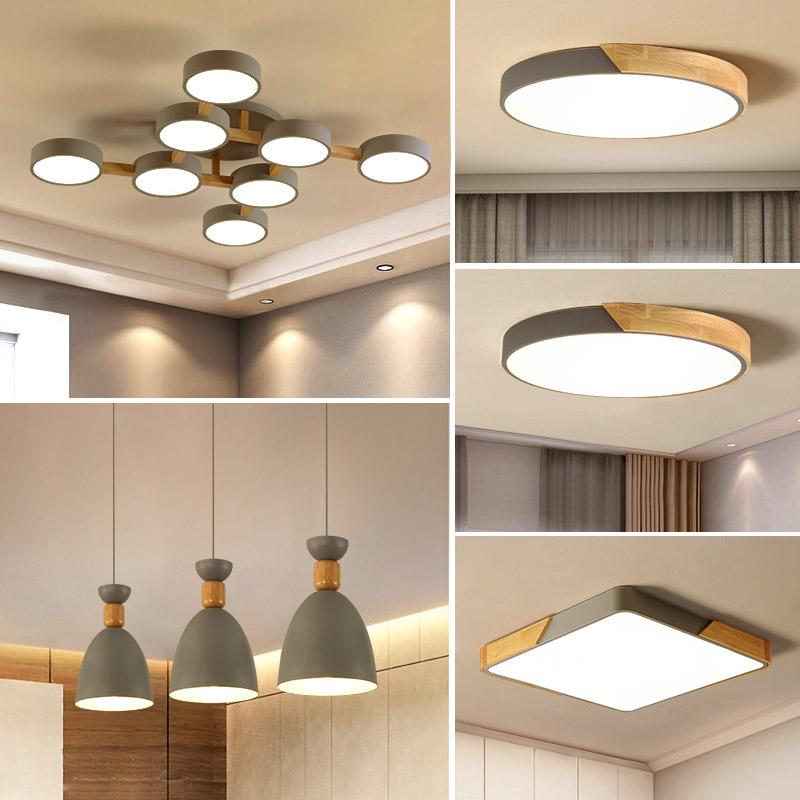 吸顶灯餐厅灯马卡龙卧室日式灯具 led 北欧客厅灯简约现代大气家用