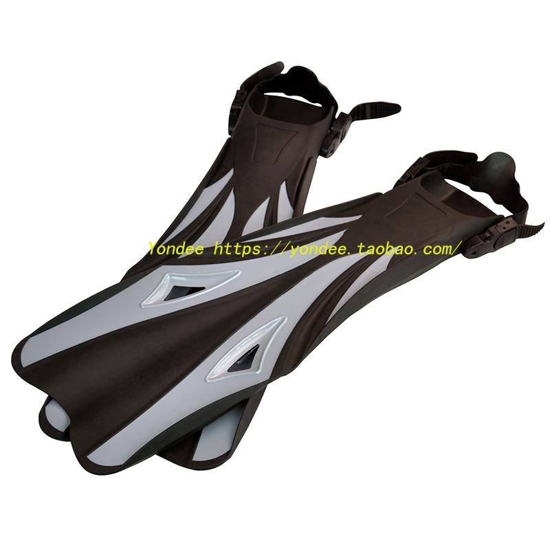 成人游泳訓練長腳蹼 浮潛長腳蹼潛水蛙鞋 可調節鞋帶鴨蹼