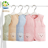 Children's vest autumn and winter models thick warm boys and girls baby hooded pony outside wearing baby winter clothes